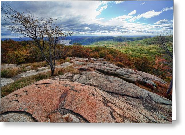Hudson Highlands Greeting Card by June Marie Sobrito