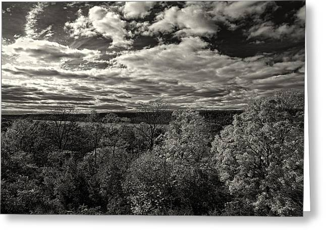 Hudson River And New Jersey Palisades From Wave Hill Greeting Card