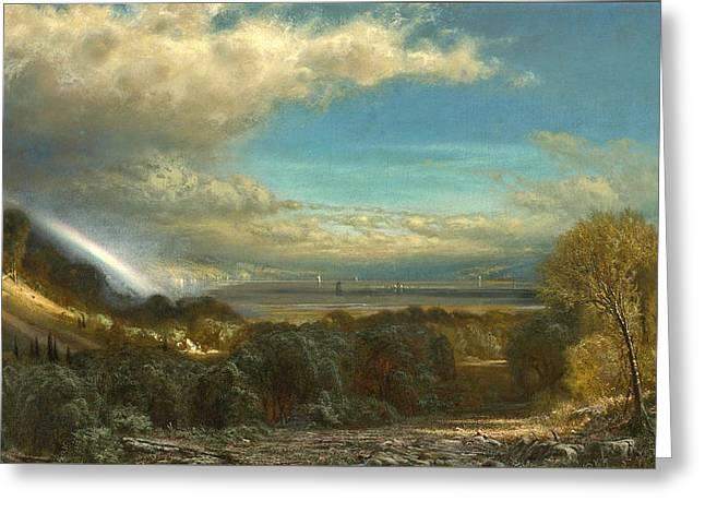 Hudson River Landscape Greeting Card