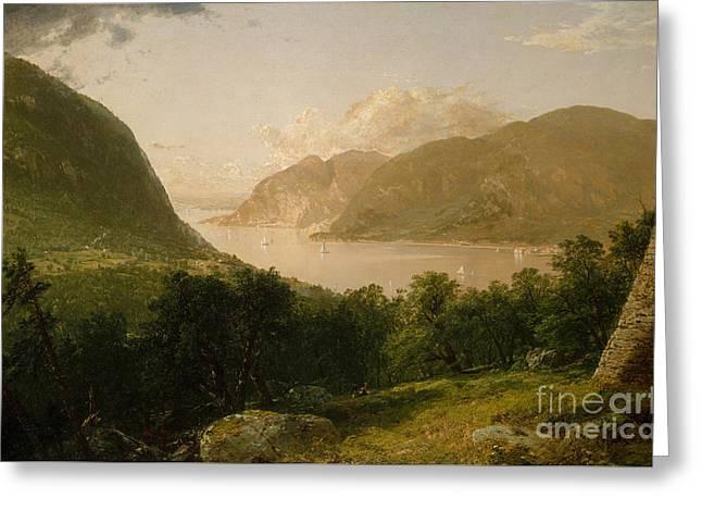 Hudson River Scene, 1857  Greeting Card