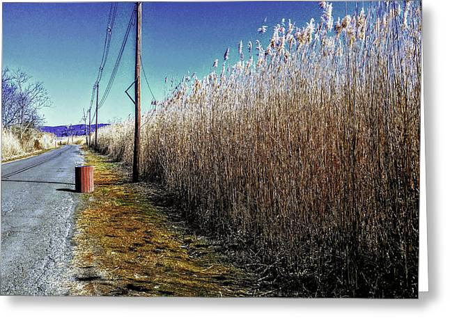 Hudson River Winter Walk Greeting Card