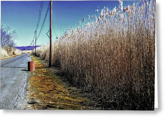 Hudson River Winter Walk Greeting Card