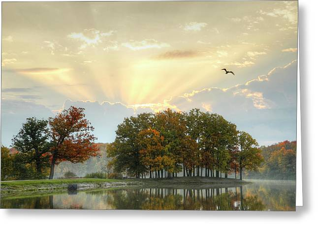 Greeting Card featuring the photograph Hudson Springs Morning by Ann Bridges