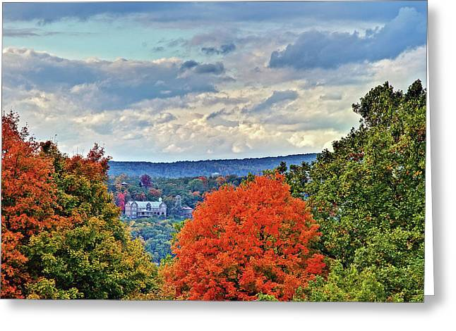 Hudson Valley Hyde Park Ny Greeting Card by Don Mennig