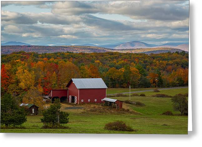 Hudson Valley Ny Fall Colors Greeting Card