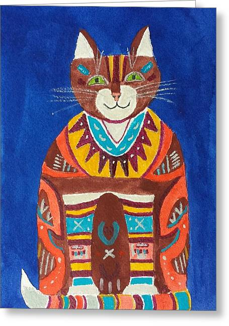Huey Cat Greeting Card