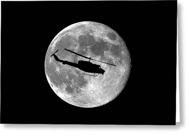 Huey Moon .png Greeting Card by Al Powell Photography USA
