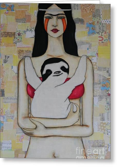 Hug Me Forever Greeting Card by Natalie Briney