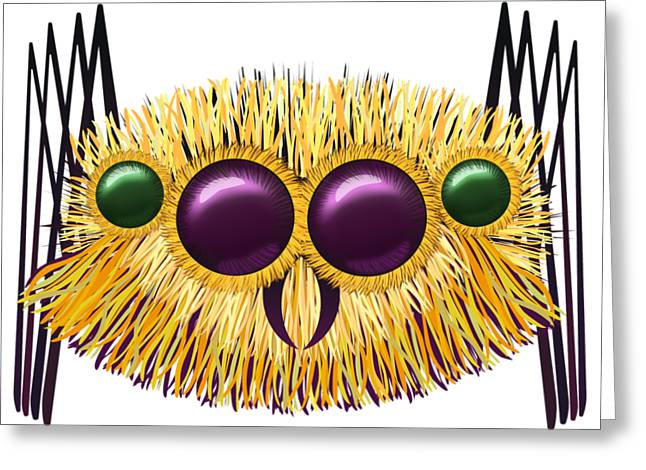 Huge Hairy Spider Greeting Card by Michal Boubin