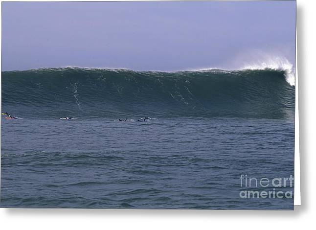 Greeting Card featuring the photograph Huge Mavericks Wall by Stan and Anne Foster