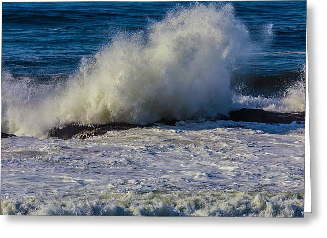 Huge Pacific Wave Greeting Card