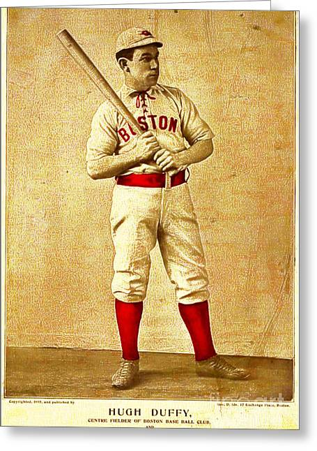 Hugh Duffy Boston Red Sox 1895 Greeting Card