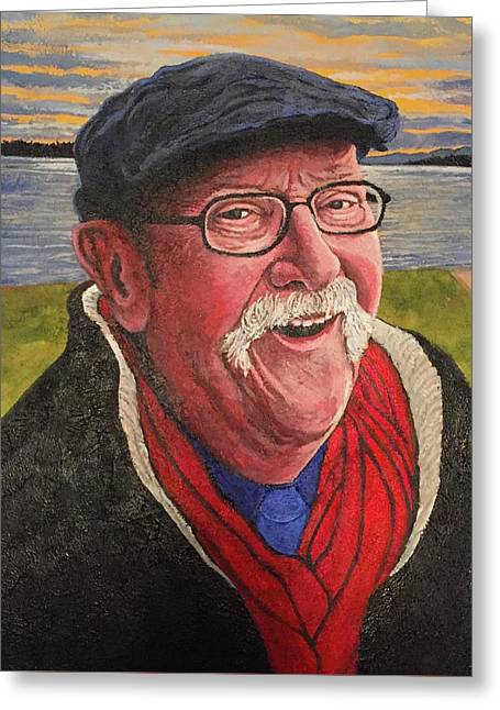 Greeting Card featuring the painting Hugh Hanson Davidson by Tom Roderick