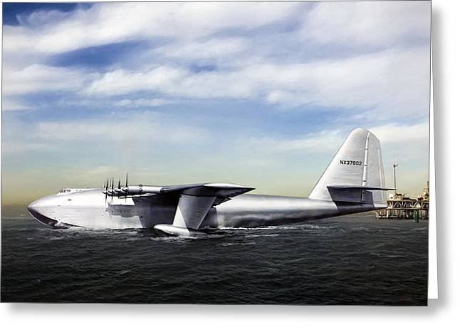 Hughes H-4 Hercules Greeting Card by Peter Chilelli