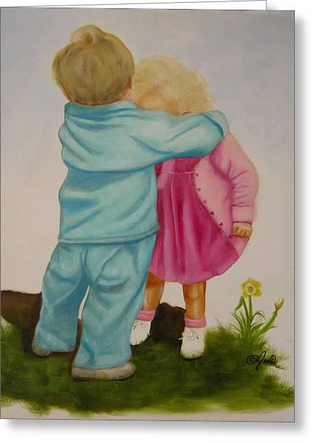 Hugs Are Magic Greeting Card by Joni McPherson
