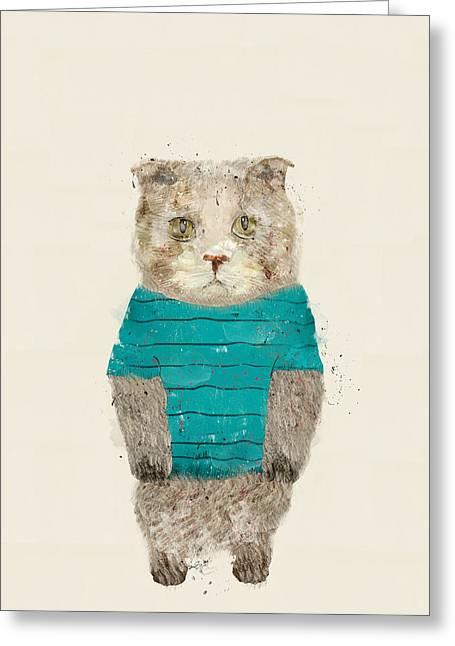 Hugs The Kitty Greeting Card
