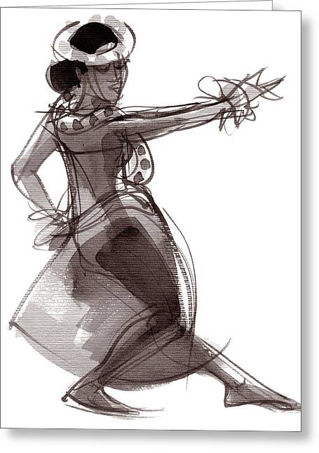 Hula Dancer Keala Greeting Card