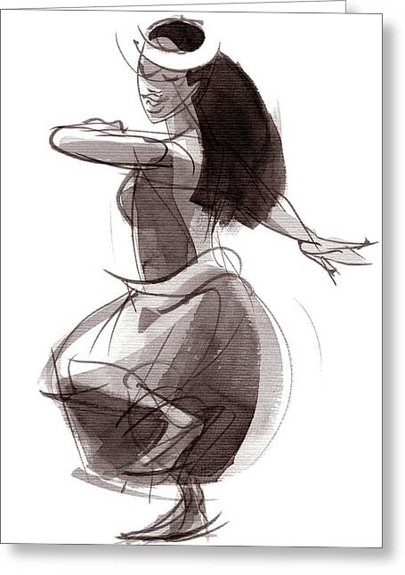 Hula Dancer Olina Greeting Card