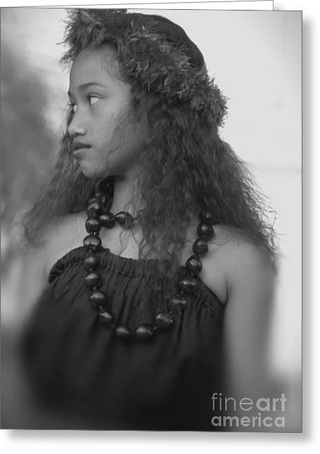 Hula Girl Greeting Card by Uldra Johnson