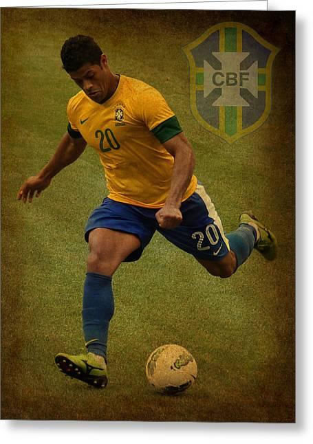 Hulk Kicks Givanildo Vieira De Souza Greeting Card by Lee Dos Santos