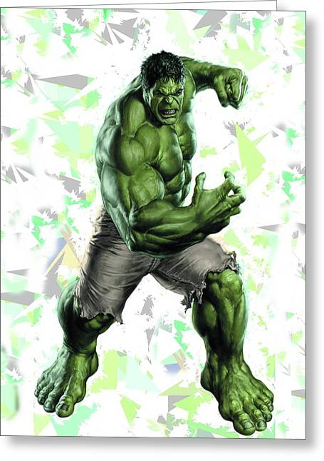 Hulk Splash Super Hero Series Greeting Card