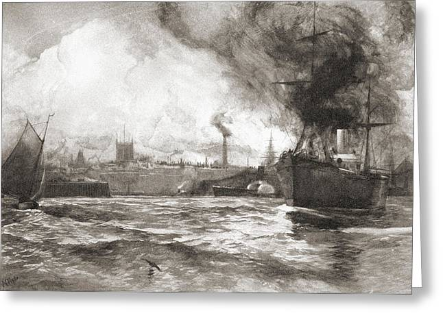 Hull From The Humber. Kingston Upon Greeting Card