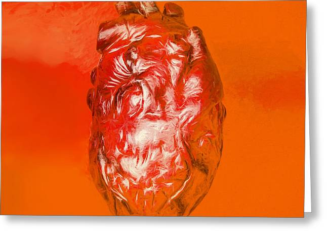 Human Heart In Digital Art Greeting Card by Jorgo Photography - Wall Art Gallery