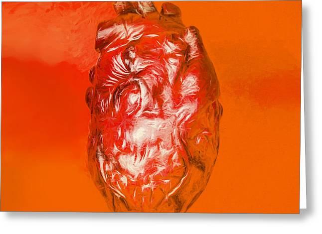 Human Heart In Digital Art Greeting Card