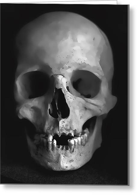 Human Skull Greeting Card by Daniel Hagerman
