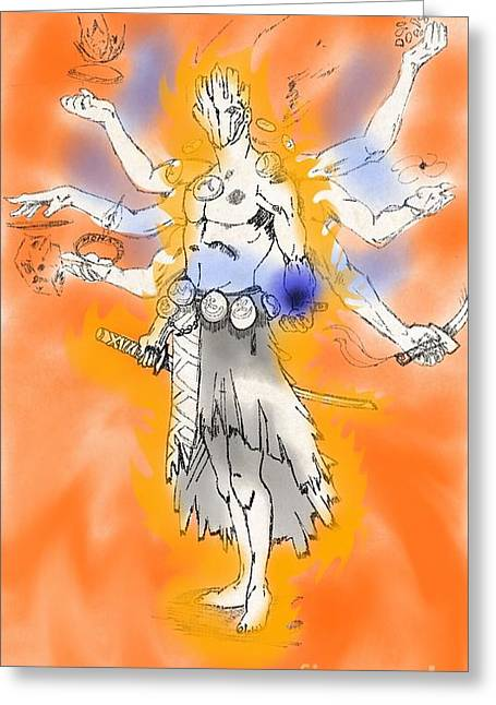 Human The Ultimate Form Greeting Card by Mohammad Albedwawi