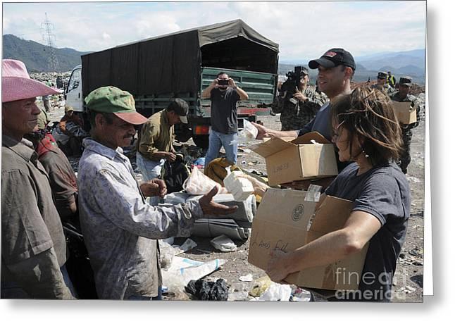 Humanitarian Relief Efforts Greeting Card by Stocktrek Images