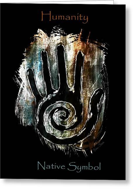 Humanity Native Symbol Greeting Card