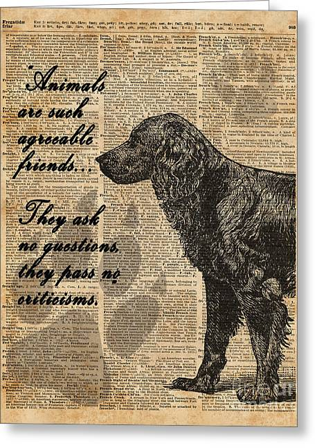 Human's Best Friend Greeting Card by Jacob Kuch