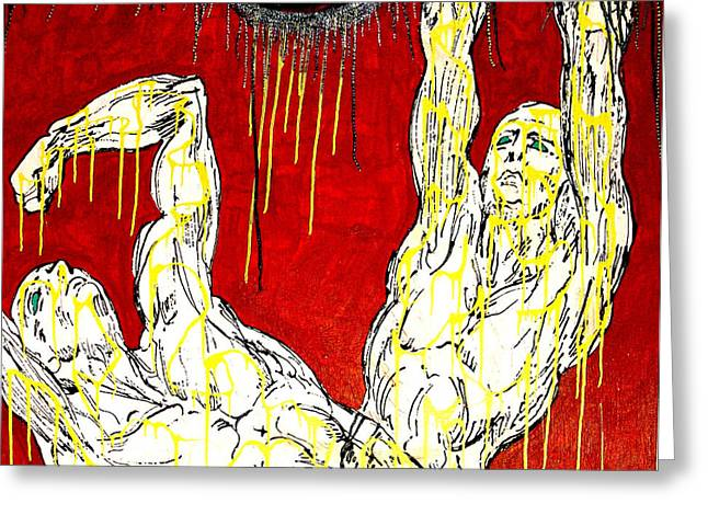 Humility Holds On Flesh Releases Greeting Card by Jay Lonewolf