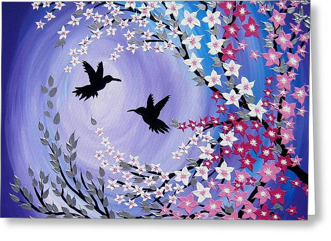Humming Bird Fantasy Greeting Card