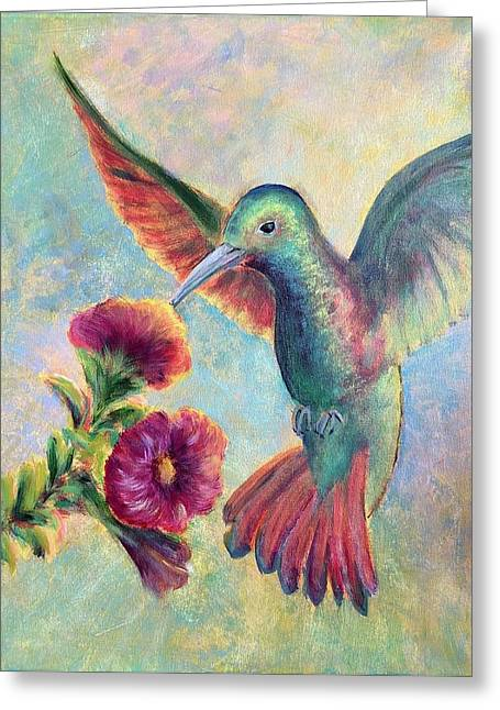 Humming Jewel Greeting Card