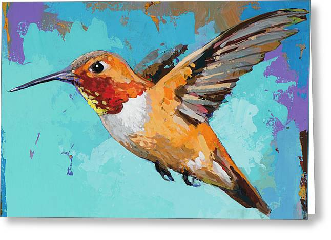 Hummingbird #11 Greeting Card by David Palmer