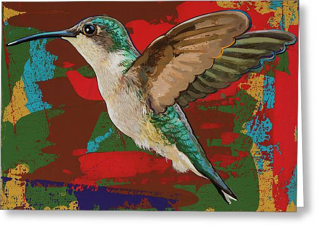 Hummingbird #12 Greeting Card by David Palmer