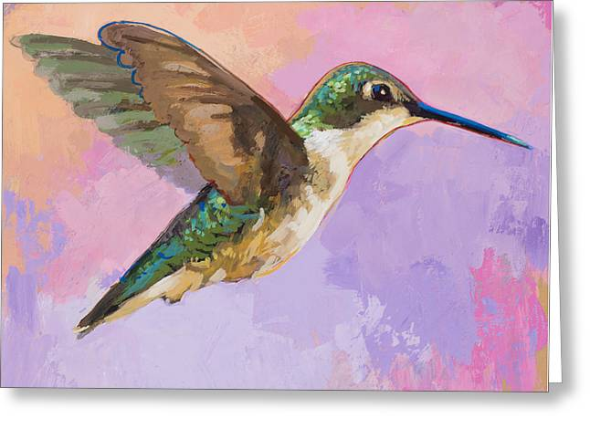 Hummingbird #2 Greeting Card by David Palmer