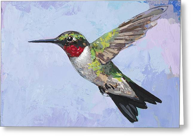 Hummingbird #3 Greeting Card by David Palmer