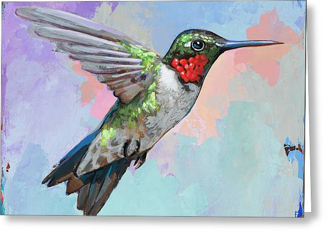 Hummingbird #4 Greeting Card by David Palmer