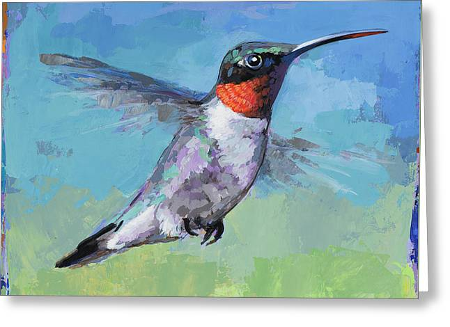 Hummingbird #8 Greeting Card by David Palmer