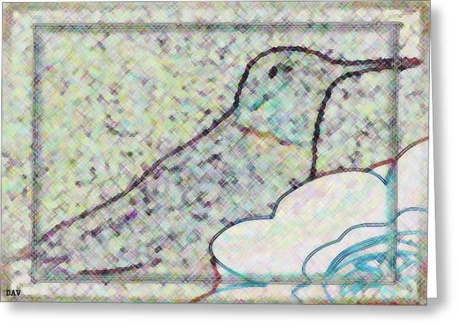 Hummingbird Accent  Greeting Card