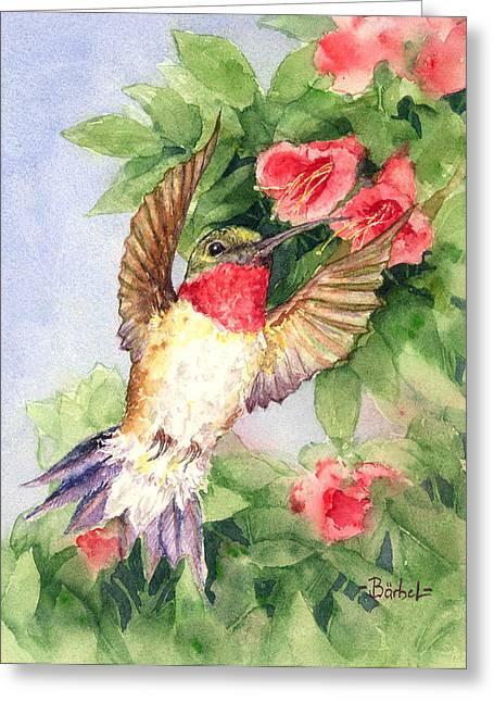 Hummingbird And Nectar Greeting Card