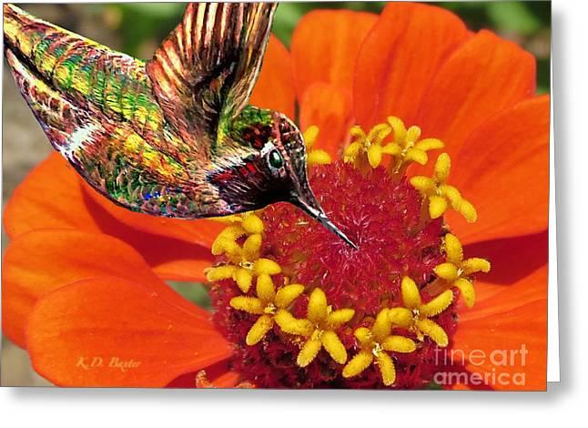 Hummingbird Delight Greeting Card