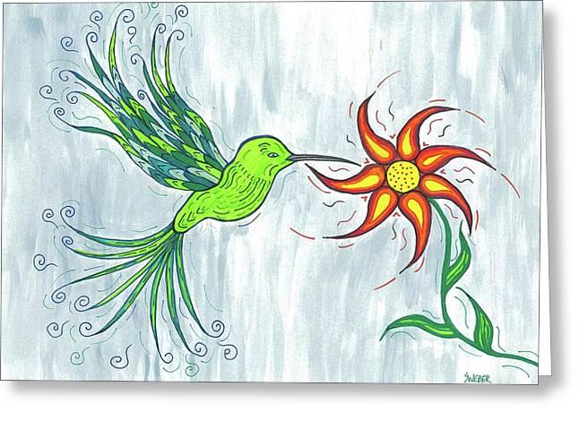 Hummingbird Floral Greeting Card