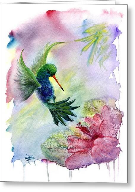 Hummingbird Happiness Greeting Card