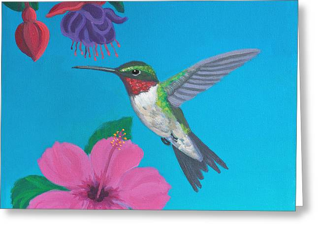 Hummingbird Heaven Greeting Card by Frank Strasser
