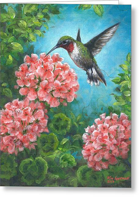 Hummingbird Heaven Greeting Card