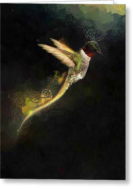 Hummingbird Hotty Totty Style Greeting Card by Catherine Lott